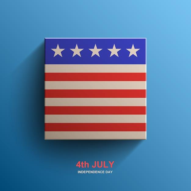 Drapeau Américain, Drapeau Américain, Vecteur Premium