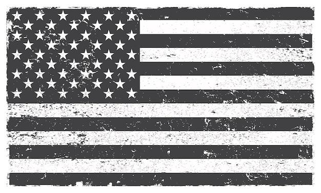 Drapeau américain grunge Vecteur Premium