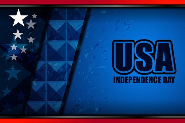 Drapeau américain pour le jour de l'indépendance Vecteur Premium