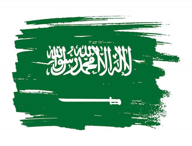 Drapeau de l'arabie saoudite Vecteur Premium