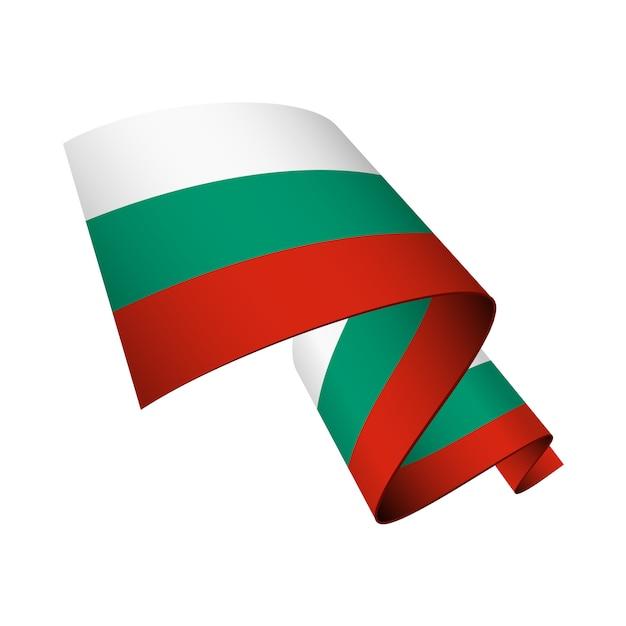 Drapeau De La Bulgarie Ondulé Isolé Vecteur Premium