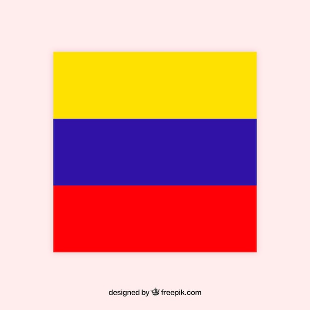 Drapeau De La Colombie Vecteur gratuit