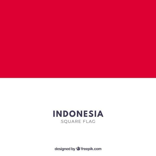 Drapeau De L Indonésie drapeau de l'indonésie | télécharger des vecteurs gratuitement