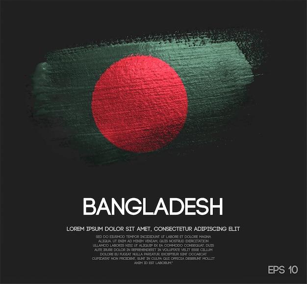 Drapeau Du Bangladesh En Paillettes Sparkle Brush Paint Vector Vecteur Premium