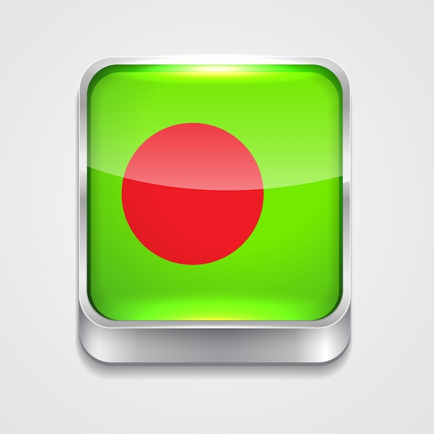 Drapeau Du Bangladesh Vecteur Premium
