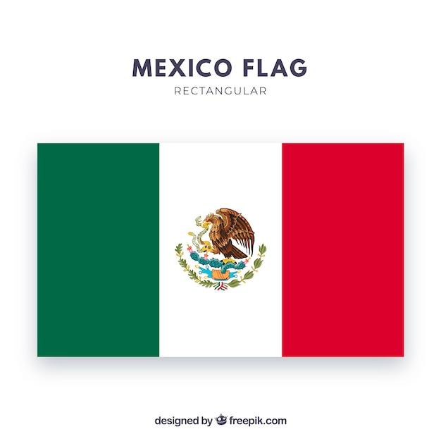 Drapeau du mexique Vecteur gratuit