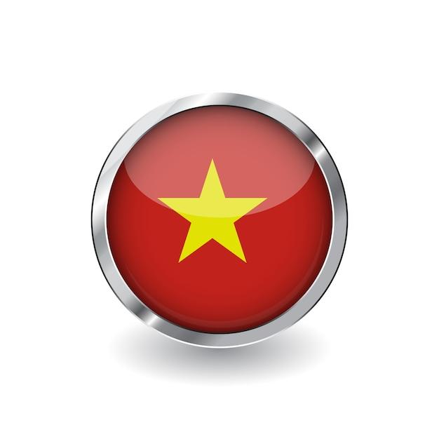 Drapeau du vietnam Vecteur Premium