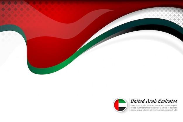 Drapeau des émirats arabes unis couleur concept fond Vecteur Premium
