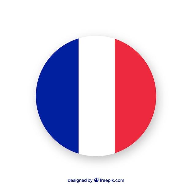 Drapeau De La France Vecteur Premium