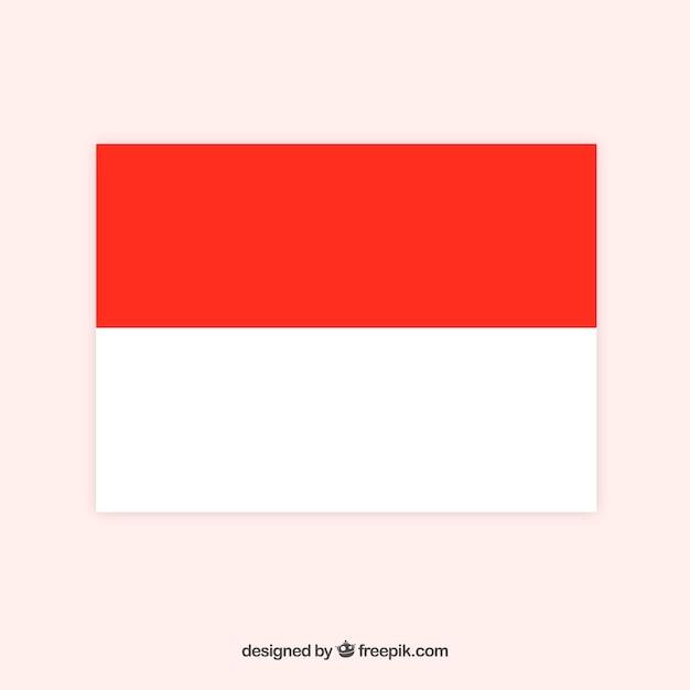 Drapeau de l'indonésie Vecteur gratuit