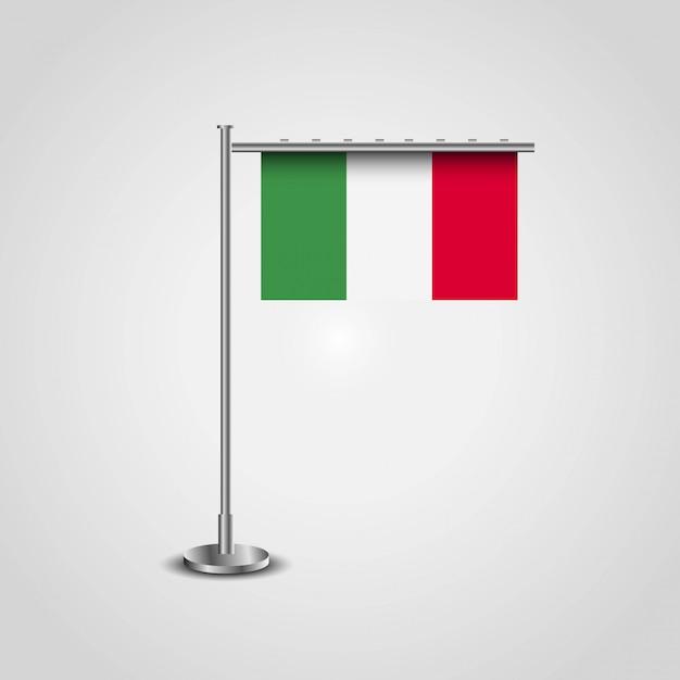 Drapeau d'italie avec le vecteur de design créatif Vecteur gratuit