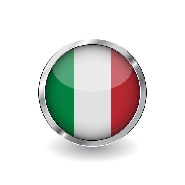 Drapeau de l'italie Vecteur Premium