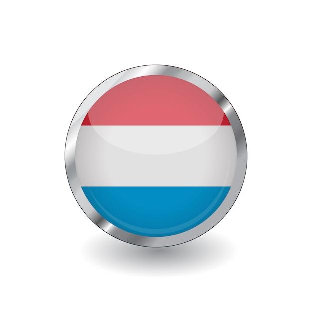 Drapeau Luxembourg Vecteur Premium