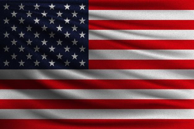 Le Drapeau National Des Usa. Vecteur Premium
