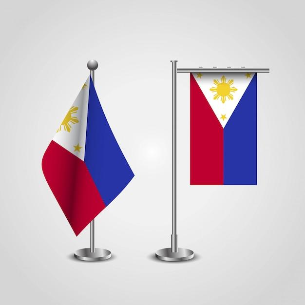 Drapeau des philippines avec le vecteur de design créatif Vecteur gratuit