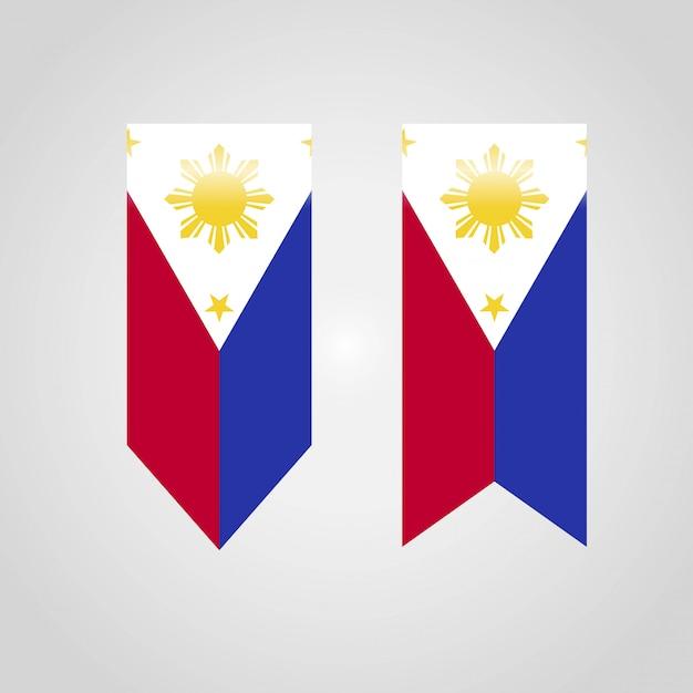 Drapeau des philippines avec le vecteur de design créatif Vecteur Premium