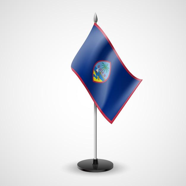 Drapeau De Table De Guam Vecteur Premium