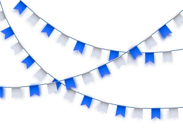 Drapeaux banderoles Vecteur Premium