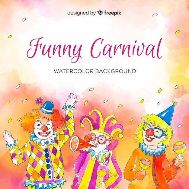 Drôle de carnaval Vecteur gratuit