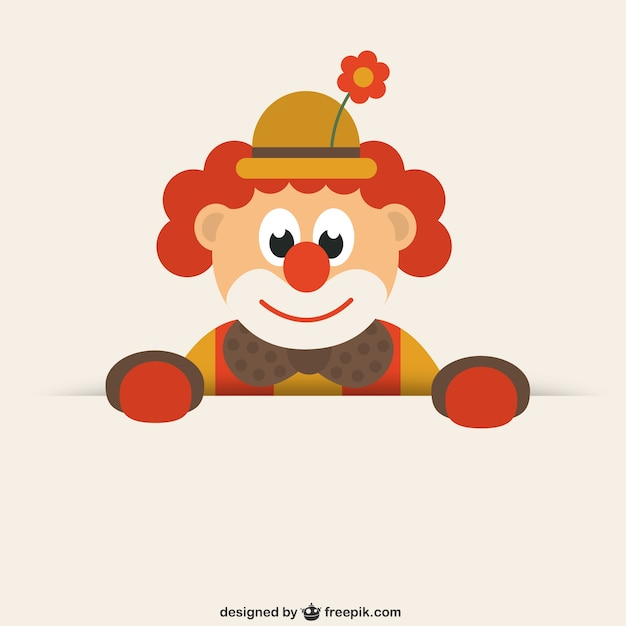 Drôle de clown Vecteur gratuit