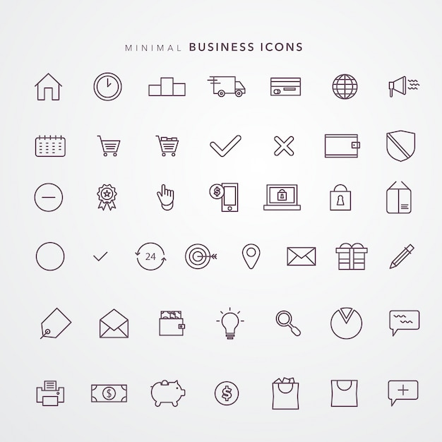 E commerce icon set Vecteur Premium