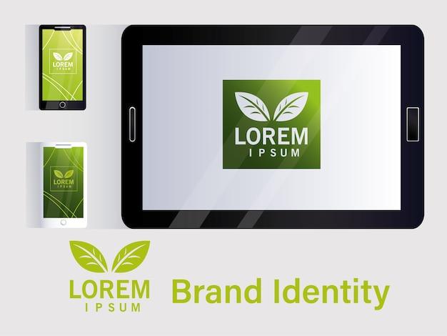 E-commerce Pour La Marque D'identité Dans La Conception D'illustration Des Entreprises Vecteur Premium