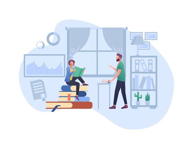 E - Illustration Du Concept D'apprentissage Vecteur Premium