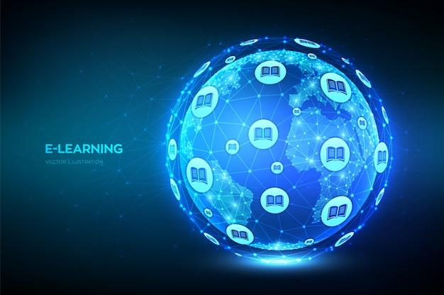 E-learning. Concept De Technologie D'éducation En Ligne Innovant. Vecteur Premium
