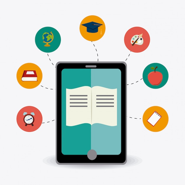 E-learning design. Vecteur Premium