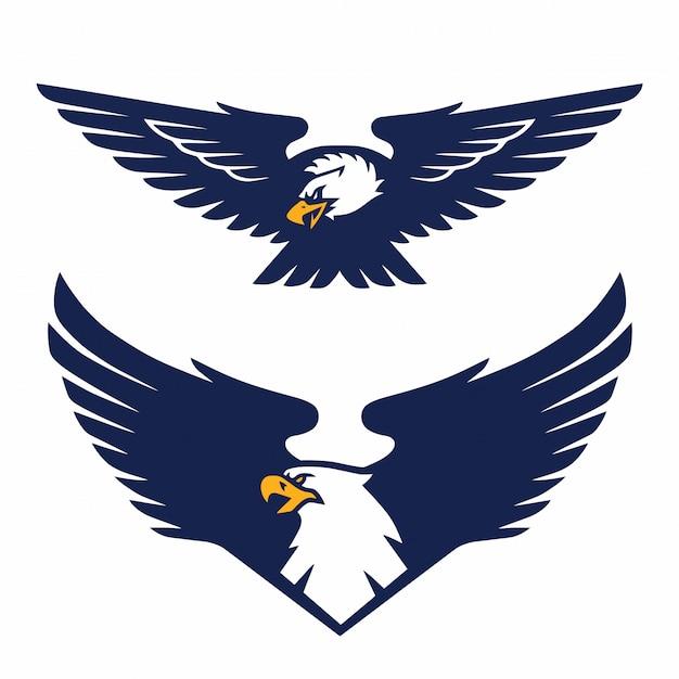 Eagle Logo Badge Emblem Set Template Vecteur Telecharger Des