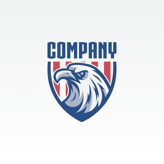 Eagle logo de l'entreprise Vecteur Premium