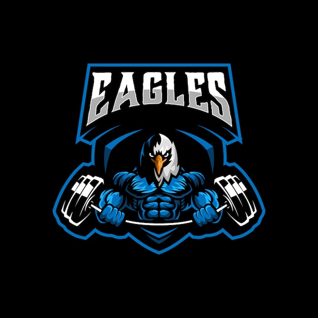 Eagle template logo template vecteur Vecteur Premium