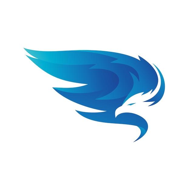 Eagle wings logo vector Vecteur Premium