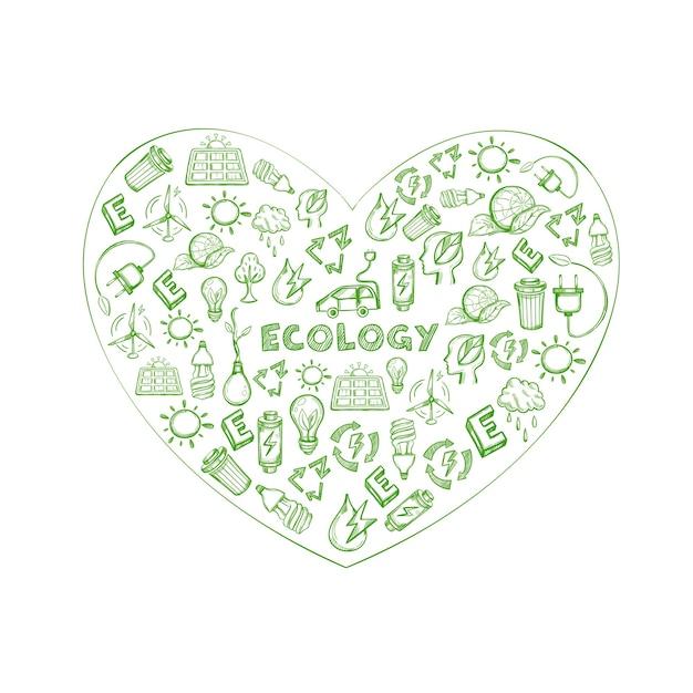 Earth Save Sketch Vecteur gratuit