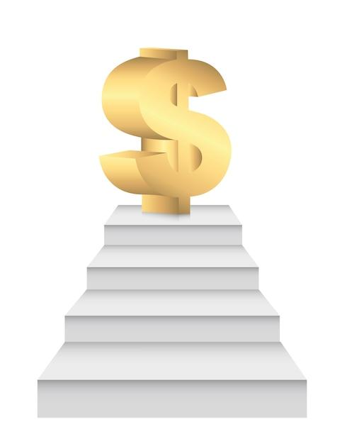 Des échelles à de l'argent Vecteur Premium