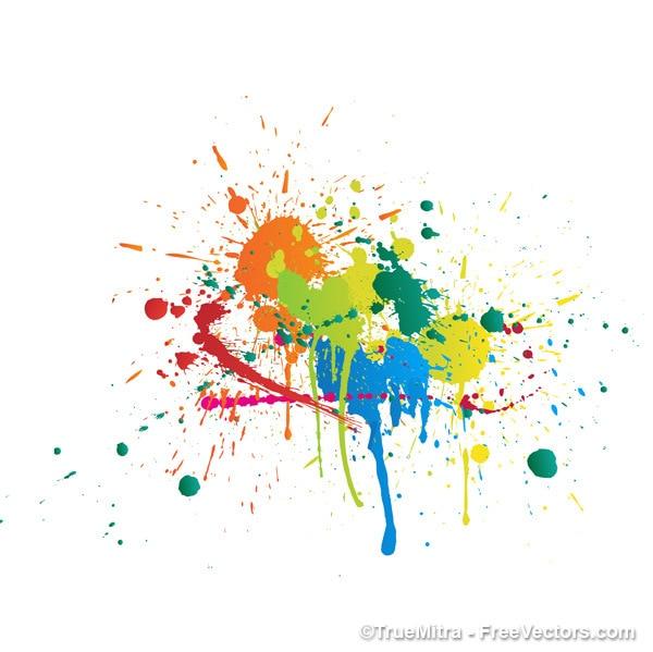 Claboussures de peinture color e sur fond abstrait for Peinture graphique