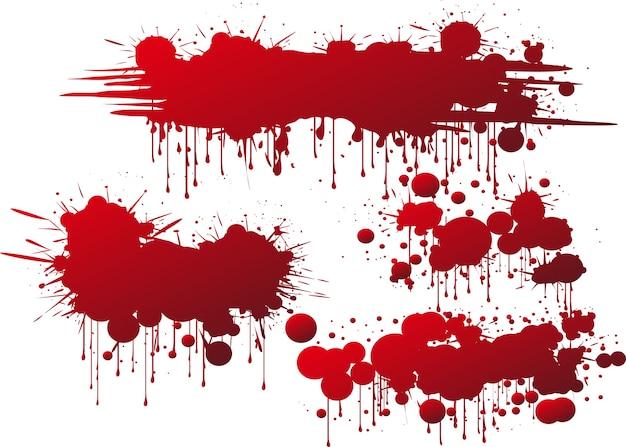Éclaboussures De Sang Ou De Peinture éclaboussures De Marque De Vecteur |  Vecteur Premium