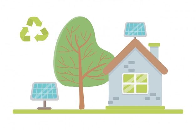Eco city et sauver la planète Vecteur gratuit