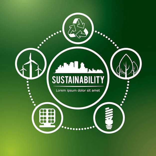 Éco-durabilité Vecteur Premium