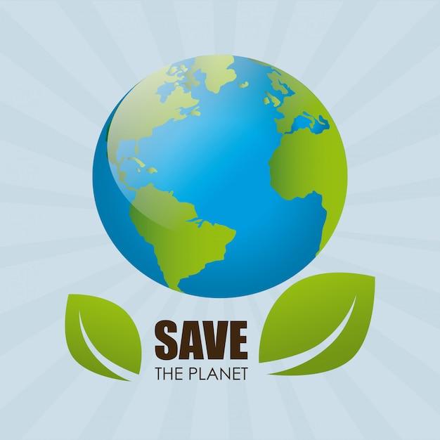 Écologie sur bleu Vecteur gratuit