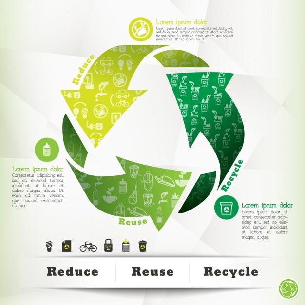 Ecologie modèle infographique Vecteur gratuit