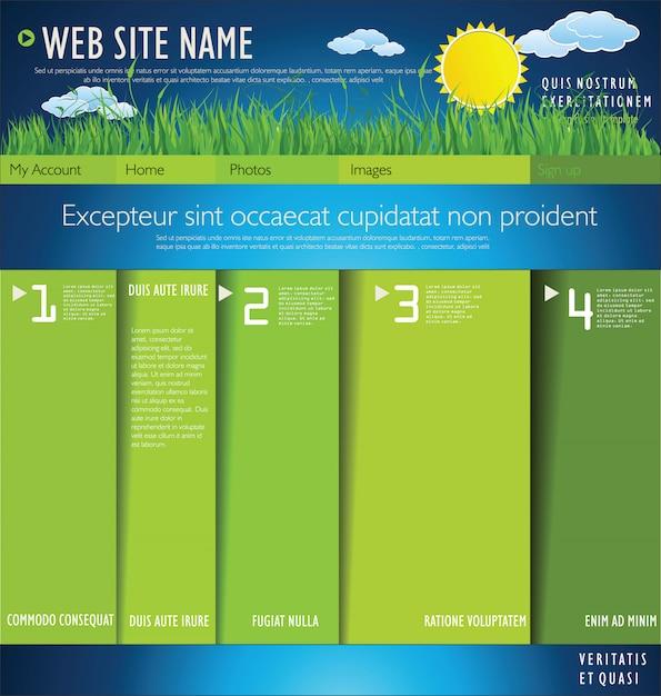 Écologie moderne design layout Vecteur Premium