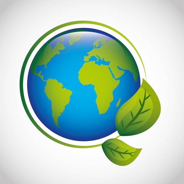 Ecologie et monde vert Vecteur Premium