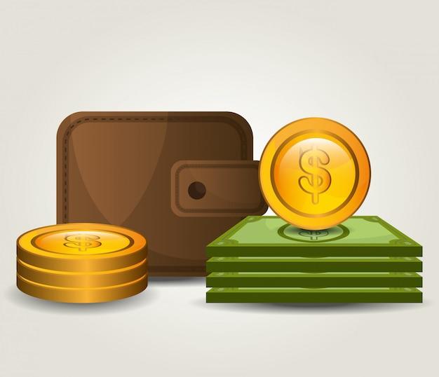 Économies D'argent Et Conception D'entreprise Vecteur gratuit