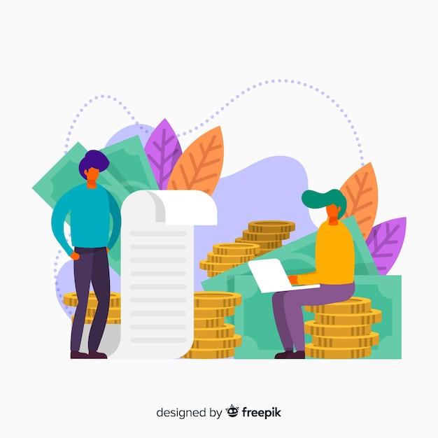 Économiser de l'argent fond de concept Vecteur gratuit