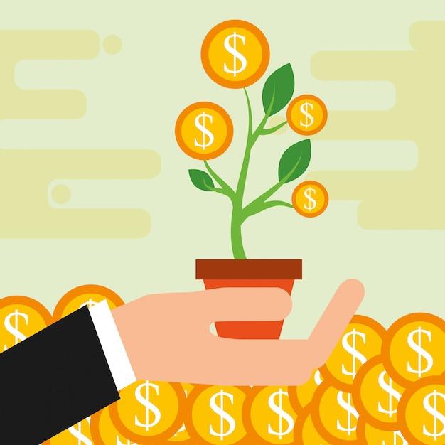 Économiser de l'argent Vecteur Premium