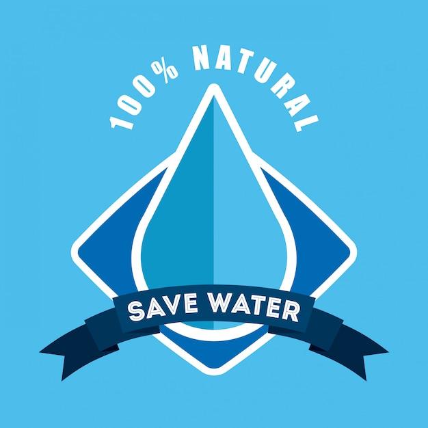 Économiser l'eau Vecteur Premium