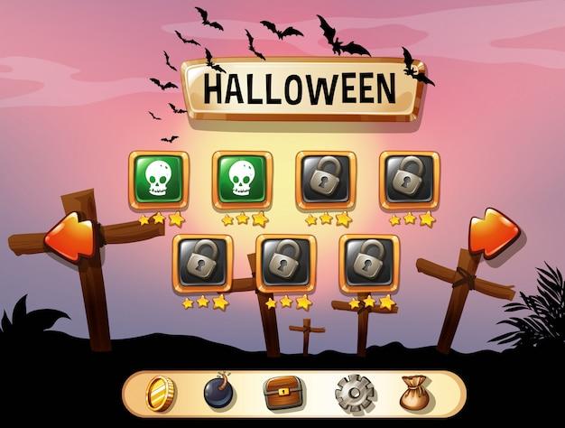 Économiseur d'écran du thème de halloween Vecteur gratuit