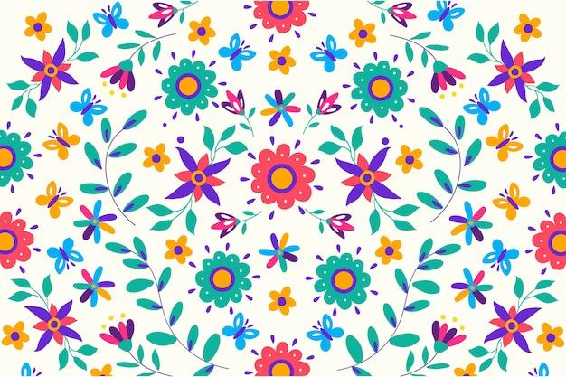 Économiseur D'écran Mexicain Coloré Vecteur gratuit