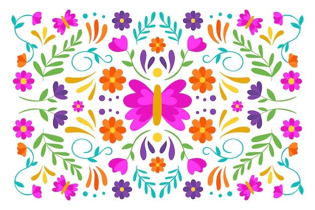 Économiseur D'écran Plat Mexicain Coloré Vecteur gratuit